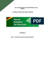 Plano Estadual Educação RS