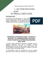 Las Intervenciones Extranjeras en México 1825