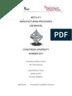 Mechh311 Manual Summer 2011