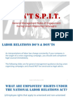 Don't S.P.I.T. -- General Management Rules of Engagement During Union Organizing Campaigns