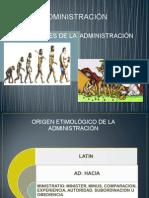 ORIGEN DE LA ADMINISTRACIÓN Sesión 3 ADMON 2015 A.ppt