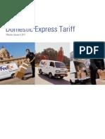 India Domestic Tariff Cards