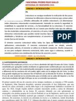Unidad i - Introduccion-propiedades de Materiales Concreto Armado