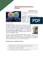 Epistemología o Doctrina de La Ciencia o Filosofía de La Ciencia Trabajo Clara