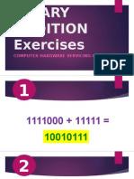 Binary Addition Exercises