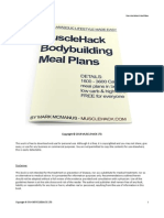 MuscleHack Bodybuilding Meal Plans