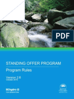 BC Hydro Standing Offer Program Rules