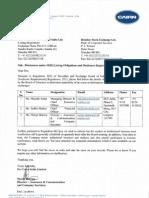 Disclosures under SEBI (Listing Obligations and Disclosure Requirements) Regulations, 2015 [Company Update]