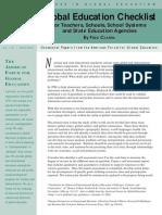 global education checklist - fred czarra