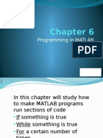 Chapter 6 Programming in Matlab