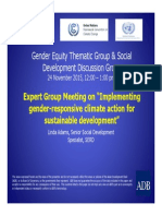 Implementing Gender-responsive Climate Action for Sustainable Development