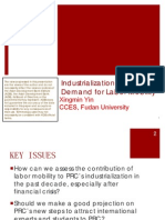 Industrialization and Demand for Labor Mobility