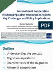 Improving International Cooperation in Managing Labor Migration in ASEAN