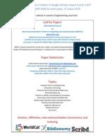 IJRITCC CFP (December 2015 Issue) Citation in Google Scholar Impact Factor 5