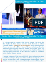 Pastor Chris Oyakhilome - Ghana Gears Up for First Ever Night of Bliss