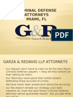 Criminal Defense Attorney Miami, FL