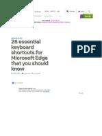 28 essential keyboard shortcuts for Microsoft Edge