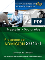 Prospecto Admision Posgrado 2015 1