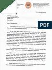Letter 2 PM on Jana Gana Mana