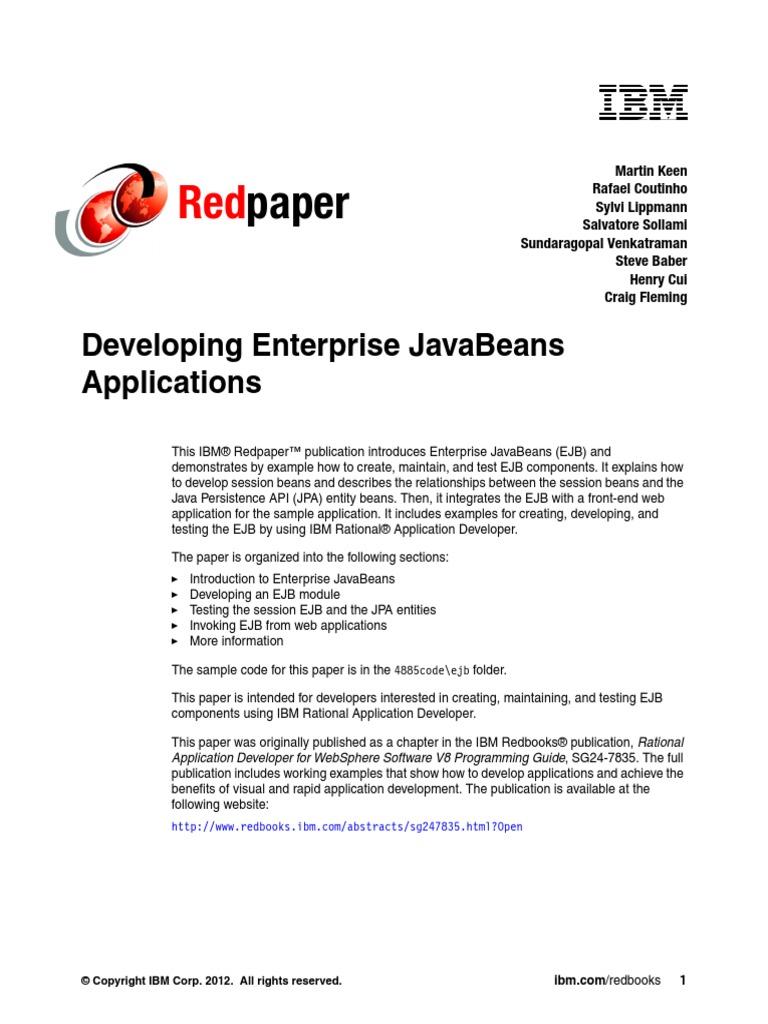 Developing enterprise javabeans enterprise java beans object developing enterprise javabeans enterprise java beans object oriented programming fandeluxe Epub
