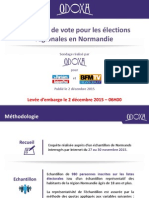 Intentions de vote pour les élections régionales en Normandie