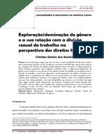 Exploração:dominação de gênero  e a sua relação com a divisão  sexual do trabalho na  perspectiva dos direitos humanos