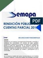Rendición de Cuentas Parcial SEMAPA 2015