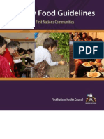 FNHC - Healthy Food Guidelines for First Nations Communities