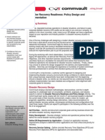 Disaster Recovery Design Implementation Datasheet