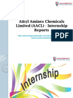 Alkyl Amines Chemicals Limited (AACL) - Internship Reports