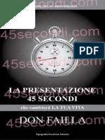 presentazione 45 secondi