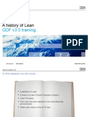 GDF v3 0 a History of Lean 20100430 | Lean Manufacturing | Process