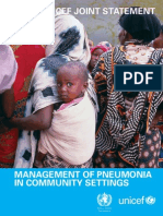 Management of Pneumonia in Community Settings