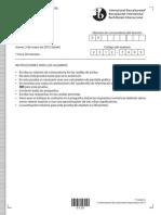 Estudios Matematicos SL Papel 1 2012