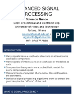 A Course in Advanced Signal Processing