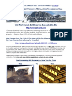 Gold Mining Stock News - Ore Processing Mill