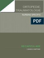 Ortopedie Traumatologie Si Nursing