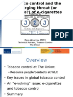 Tobacco Control and E-Cigarettes