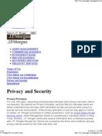 JP Morgan Privacy Policy