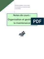 Cours AM 2011 Organisation Et Gestion de La Maintenance 4stud