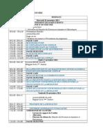 Programme Provisoire