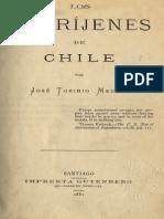 Toribio Medina Los Aborijemes de Chile