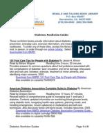 Diabetes Nonfiction Guides