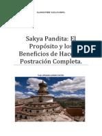 Sakya Pandita Los Propósitos y Beneficios de Hacer La Postración Completa.