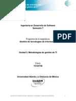 Unidad 2. Metodologias de Gestion de TI