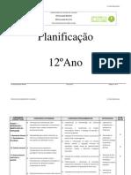 Planificação 12º 2012-2013 Biologia