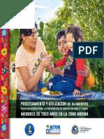 Procesamiento y utilización de alimentos ricos en hierro para la prevención de aneima en niños y niñas menores de tres años en la zona andina