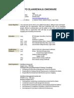 Oladipo Omoware CV