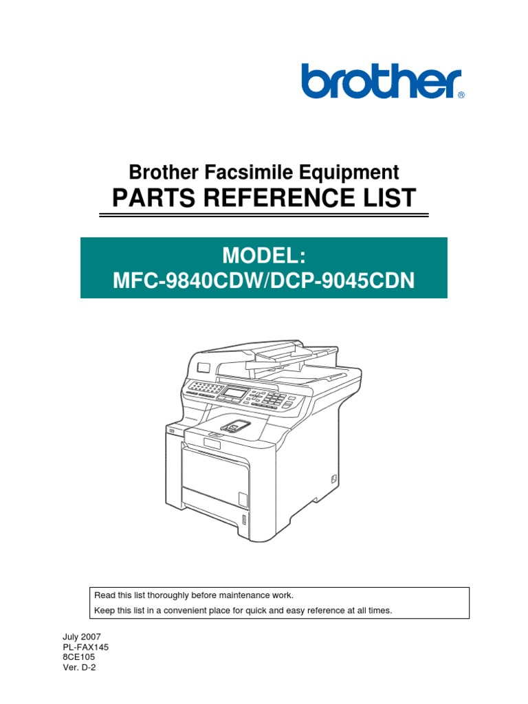 mfc 9840 parts list rh scribd com brother mfc-9840cdw driver brother mfc 9840cdw driver download