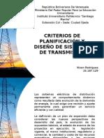 Criterios de planificación y diseño de sistemas de transmisión
